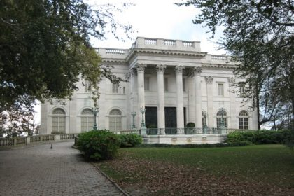 the Marble House in Newport, RI (summer home of the Vanderbilts)