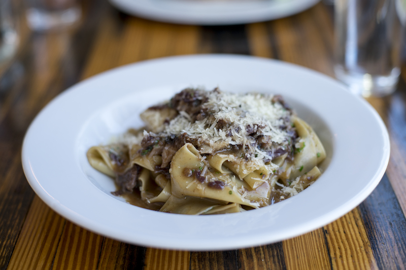 papardelle with braised hare at Lawrence