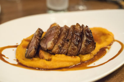 duck with yam purée at L'Affaire est Ketchup