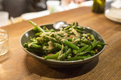 green beans with a fish sauce vinaigrette