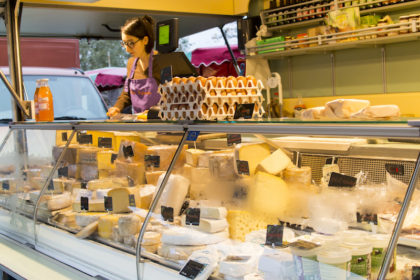 cheesy goodness at the weekend market in Ixelles