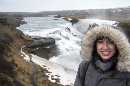a rainy day at Gullfoss