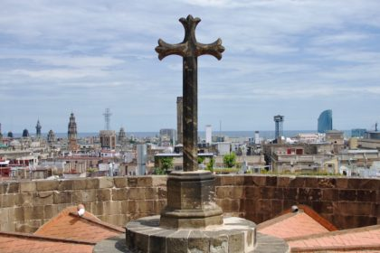 rooftop view from Barcelona Cathedral
