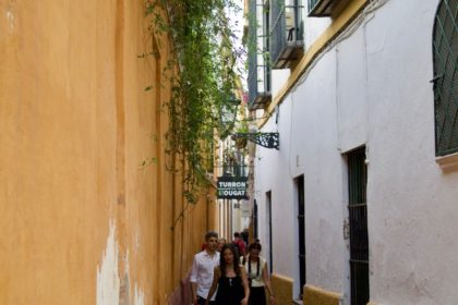 in the Jewish quarter of Sevilla