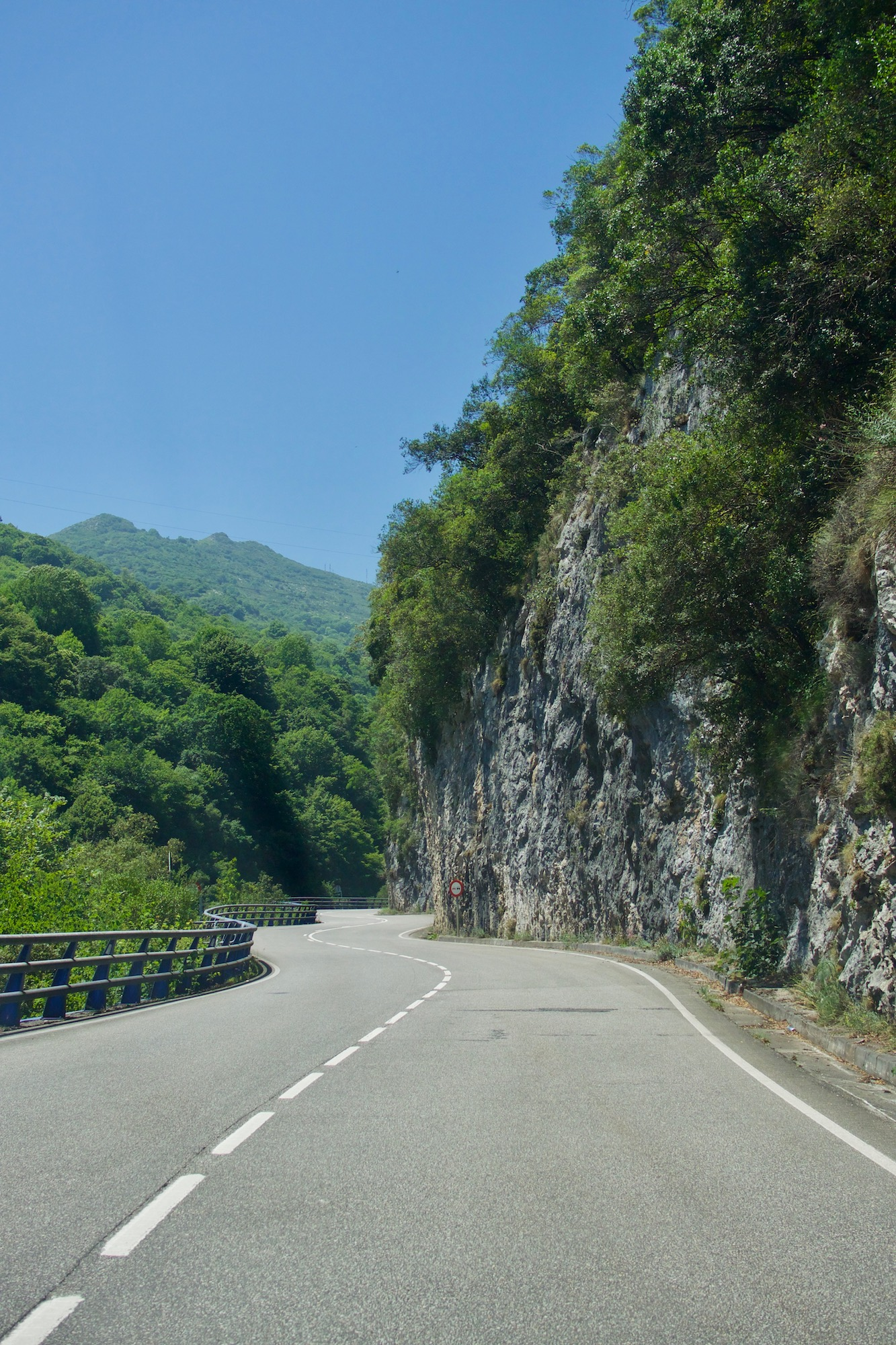 winding roads in the Picos de Europa