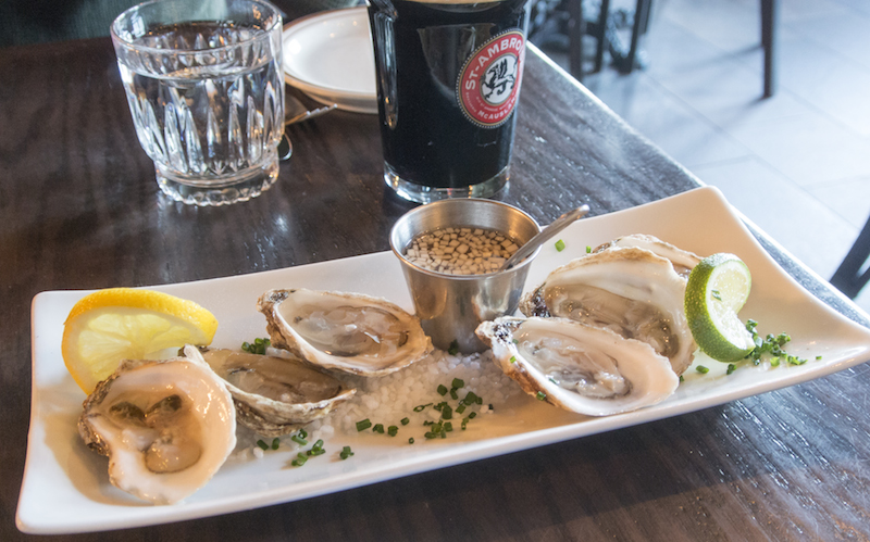 happy hour oysters at Gaspar Taverne