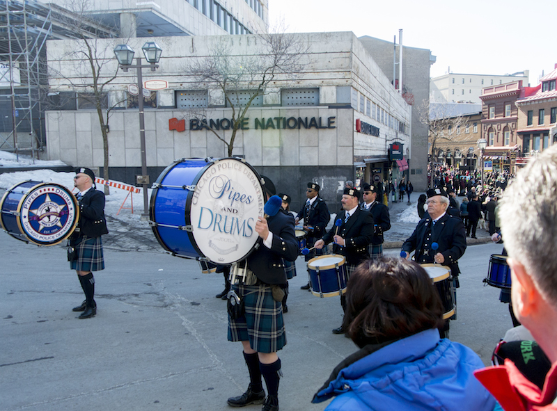 Chicago Police pipe band in the St. Patrick's Day parade