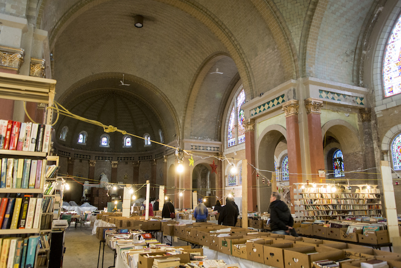 book and record sale in a church