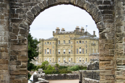 ruined archway at the entrance of Culzean Castle