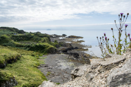 the view from the ruins of Dunure Castle
