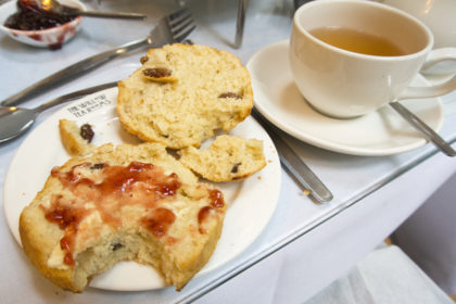 scones and tea. All of the British.