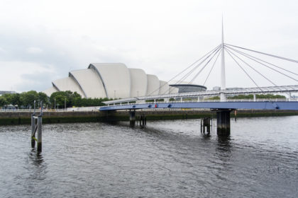 "the ""Armadillo"" (Scottish Exhibition Centre) and site of ICPhS 2015"