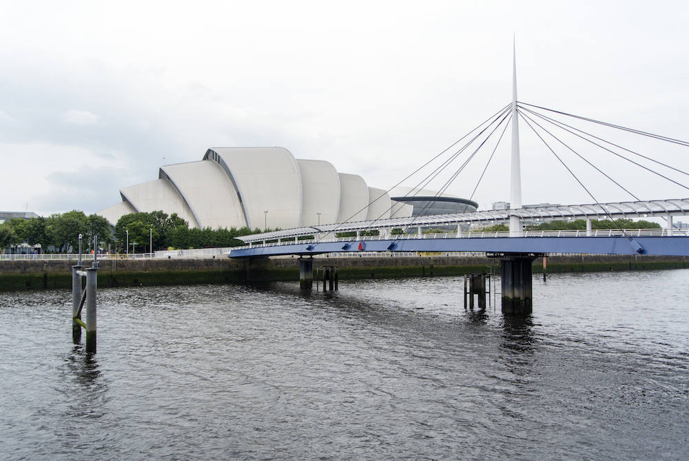 """the """"Armadillo"""" (Scottish Exhibition Centre) and site of ICPhS 2015"""