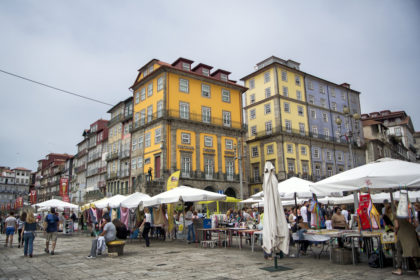 at the Praça da Ribeira