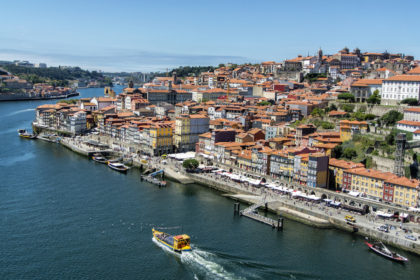 overlooking Porto from the Ponte Luís I