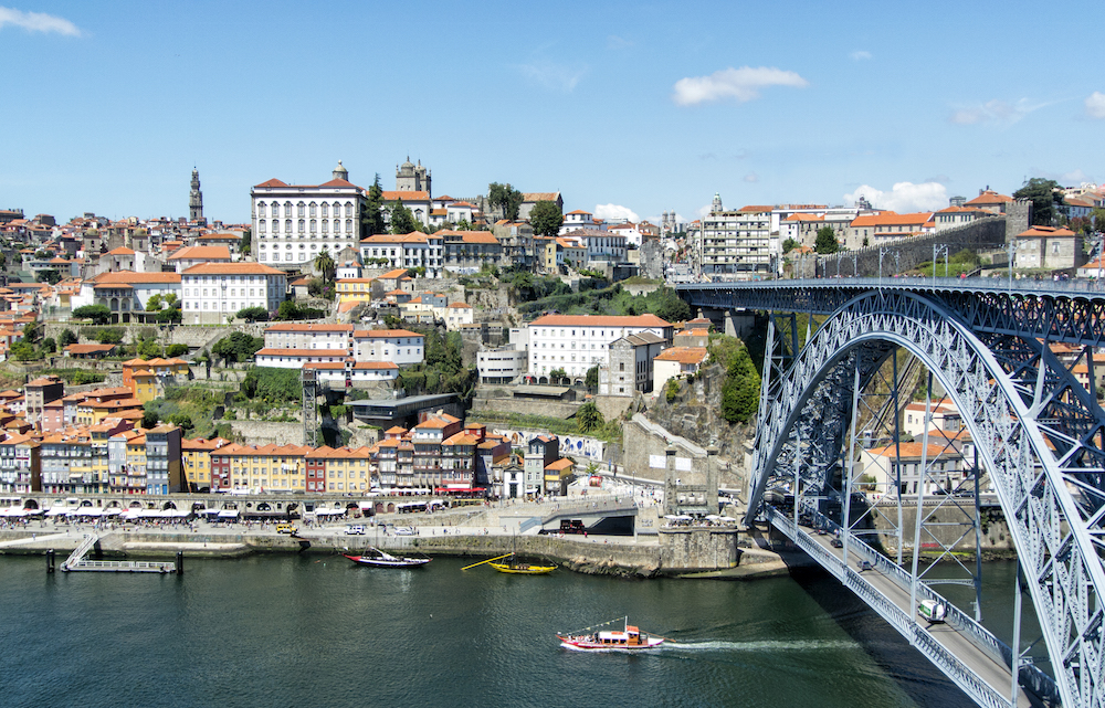 a view of Ponte Luís I and Porto