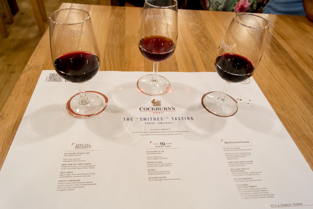 tasting delicious ports at Cockburn's Port lodge
