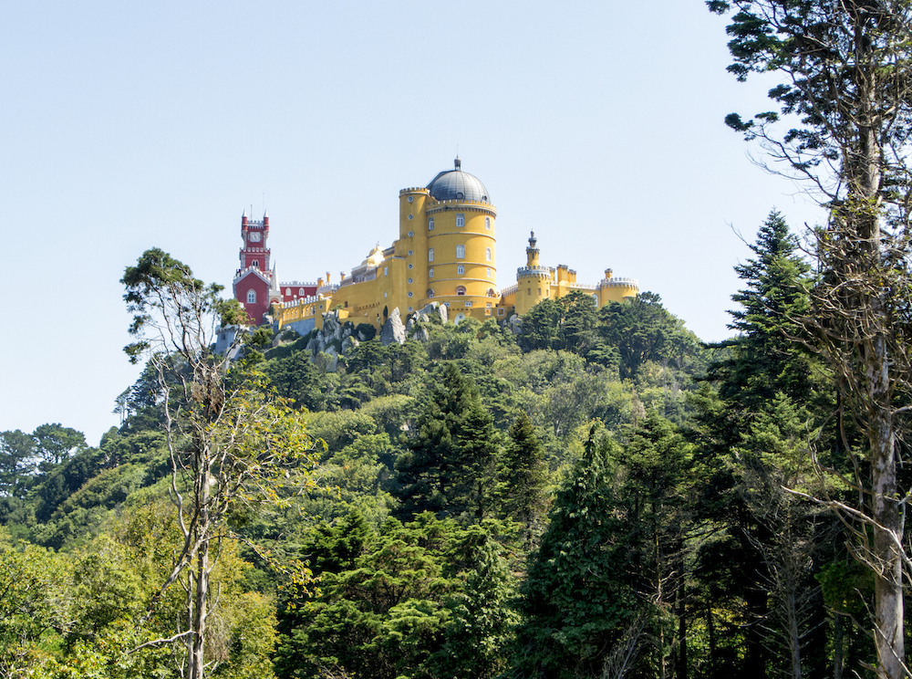 a view of Pena National Palace