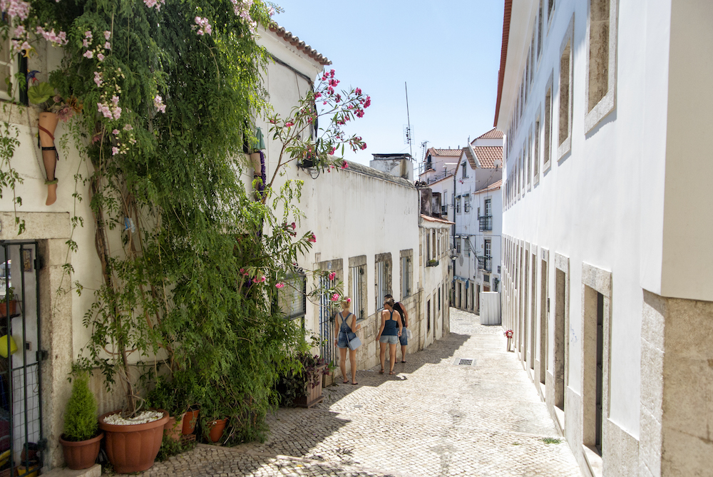 walking through Alfama