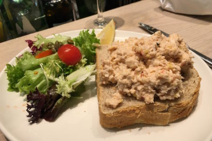 lobster salad sandwich at The Seafood Bar