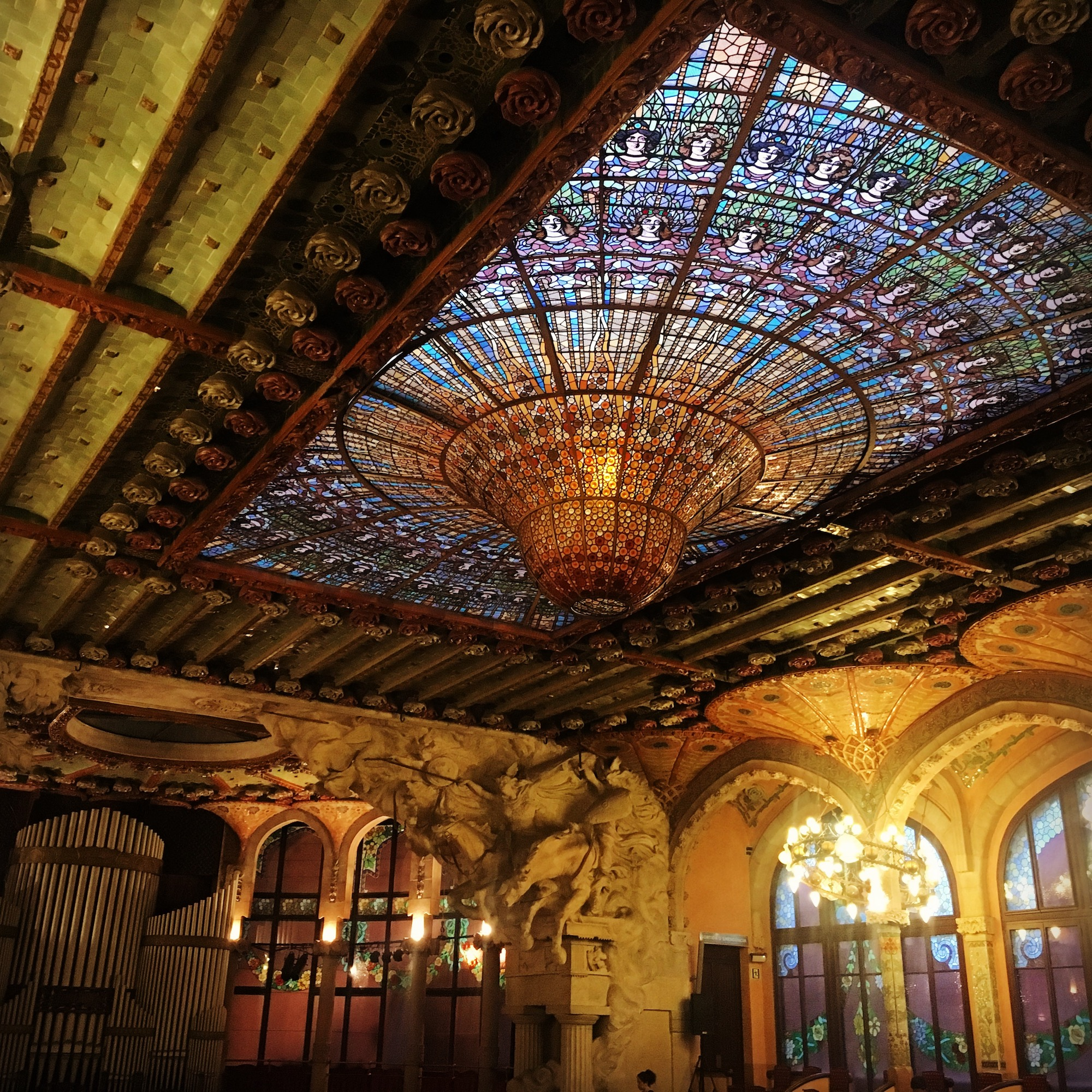 the theatre at Palau de la Música Catalana