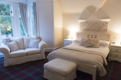 our lovely room at Struan Hall