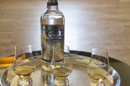 the tasting at Benromach