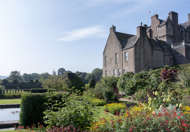 in the gardens at Crathes Castle