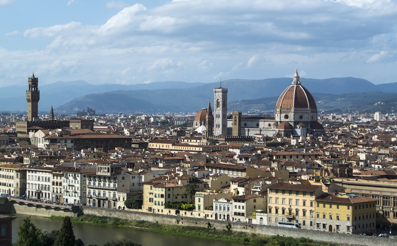 the view of Florence from PIazza Michelangelo